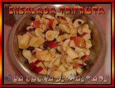 La cocina de Maetiare: Ensalada trifruta