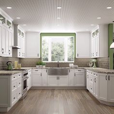 I'm Dreaming of a White Kitchen To top off last week's white shaker cabinet showcase here's more about the hottest kitchen design trend of 2017! There's so many ways to design your dream white kitchen...what's your style? LINK IN BIO!