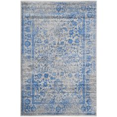 Safavieh Adirondack Vintage Distressed Grey / Blue Rug (5'1 x 7'6) | Overstock.com Shopping - The Best Deals on 5x8 - 6x9 Rugs