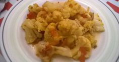 Fabulosa receta para Coliflor con tomate,cúrcuma y hierbas provenzales (olla de…