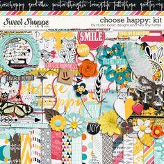 Choose Happy: Kit by Studio Basic and Two Tiny Turtles Photo Album Scrapbooking, Digital Scrapbooking, Tiny Turtle, Happy Love, Turtles, Joy, Memories, Make It Yourself, Studio