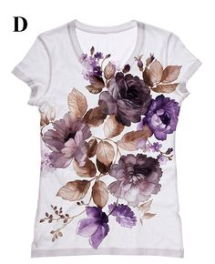 Hey, I found this really awesome Etsy listing at https://www.etsy.com/listing/119248178/woman-flower-print-top-t-shirt-and-tank