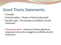 General Statement Essay Example Example Of A Good Thesis Statement For An Essay  Thesis Statement .