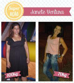 Superação Janete Ventura - Blog da Mimis - E em 1 ano e 3 meses, ela conseguiu o que até então achava impossível: eliminou 30Kg.