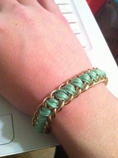 Dance to the Radio: DIY: Threaded Chain Bracelet