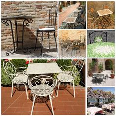 Coleção elegante mobiliário de jardim, Itália