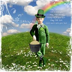 Irish Blessing by ms.bailey.  Created with images from Hidden Vintage Studios available at Devinat Scrap.