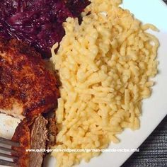 German Food Recipe: Spätzle World Cuisine Austrian Recipes, Hungarian Recipes, Austrian Food, German Noodles, German Spaetzle, Spaetzle Recipe, Pasta Recipes, Cooking Recipes, Great Recipes