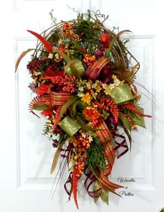 Autumn grapevine wreath,Fall grapevine wreath,Harvest grapevine wreath,Autumn wreath,Fall wreath,Harvest wreath,Grapevine wreath,Door decor by WreathsnPretties on Etsy