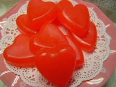 These lovely Valentine Red Hearts are fragranced with my cinnamon candies fragrance oil. They take me back to my childhood. I loved to eat those little cinnamon candy hearts. You will receive 8 hearts in a cello bag with white shred and a pretty red ribbon bow on top. Ready for your gift giving, if you choose to do so. They will certainly look adorable on your sink in a pretty bowl, your guests will simply love them.  ******** COLOR: Valentine Red FRAGRANCE: Cinnamon Candy TOTAL WEIGHT OF…