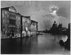 .Carlo Naya (1816-1882) - Night View of the Grand Canal, Venice, ca 1875  Albumen silver print from glass negative (41.6 x 53.7 cm)