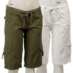 <li>Complete your wardrobe with cargo shorts from Velvet Heart</li><li>Women's clothing falls to knee</li><li>Cargo shorts have accent stitching on drawstrings</li>