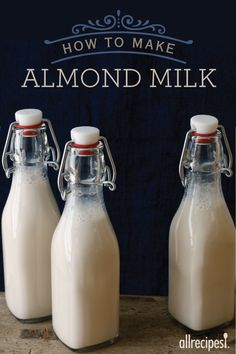 Delicious homemade almond milk with no artificial anything. See how easy it is to make it at home.