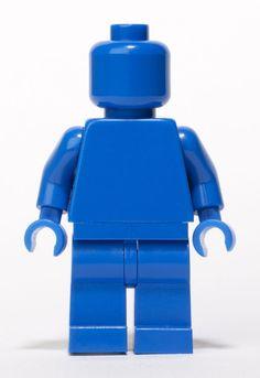 LEGO Blue Monochrome Minifigure #LEGO