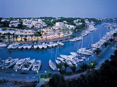 A fantastic image of Cala D'or marina at dusk Holidays Around The World, Places Around The World, Travel Around The World, Ibiza, Holiday Places, Holiday Destinations, Menorca, Places To Travel, Places To See