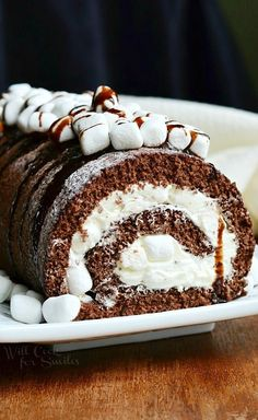 Hot Chocolate Cake Roll 5 from willcookforsmiles.com