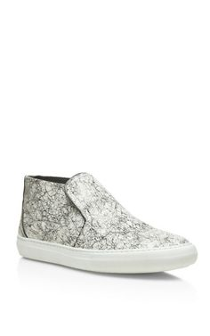 Black And White Snake Scribble/Calf Sneaker by Pierre Hardy for Preorder on Moda Operandi