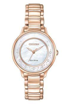 18b3b62c41738 Zegarek damski Citizen  citizen  watch  gold  white  luxury  diamonds