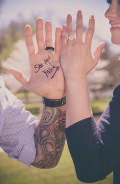 """She Said Yes!"" Creative Engagement Photo"