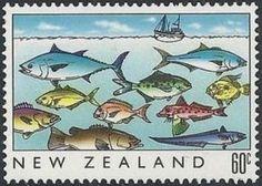 Sello: Fishes (Nueva Zelanda) (New Zealand Heritage (3rd issue).  The Sea) Mi:NZ 1089,Sg:NZ 1525
