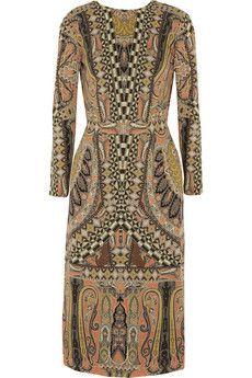 Etro Printed wool-crepe dress | NET-A-PORTER