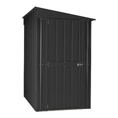 4' x 8' Lotus Lean To Anthracite Grey Metal Shed | Buy Sheds Direct