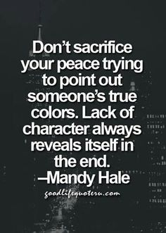 True colors are always shown in the end!