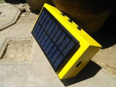 solar panel on speaker