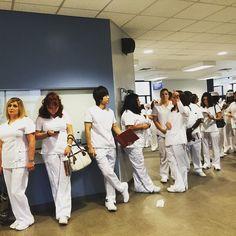 #Allegheny campus nurses lining up for the #CCAC #Nursing Pinning Ceremony! #CCACnursing
