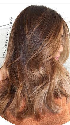 Hair creations by Brown Hair Balayage, Brown Blonde Hair, Light Brown Hair, Brunette Hair, Gold Brown Hair, Warm Brown Hair, Long Hair Highlights, Copper Balayage, Honey Balayage