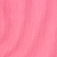 Bubblegum Pink Wide Wale Cotton Ribbing Knit Fabric - A bubblegum pink color wide wale cotton rib knit. Wide wale cotton ribbed knit has a wider wale rib, soft hand, is light weight with a nice mechanical stretch.  Great for use as ribbed tank tops and dresses, swim cover ups, baby wear,  and also for necklines, sleeve bands, waist bands, and much more!  ::  $5.50