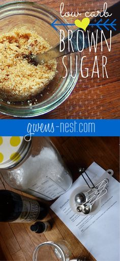 this sugar free brown sugar recipe is an awesome low carb alternative for all of…