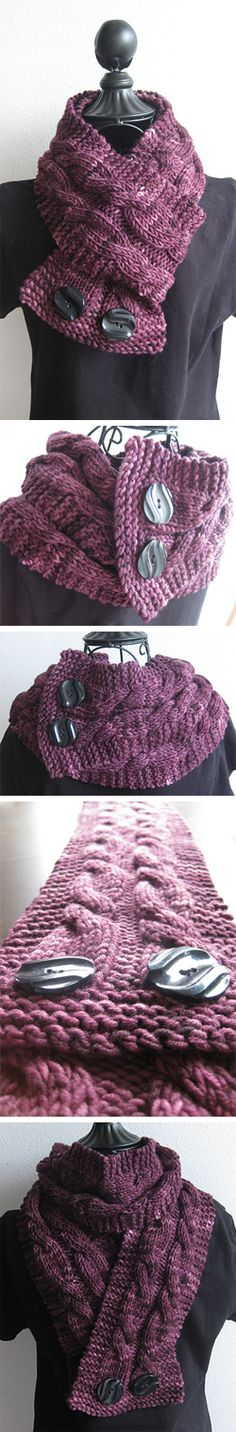 """Virginia"" a versatile knit cowl pattern by Debbi Stone"