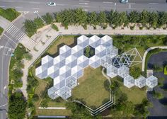 A prototype for a modular building system to be easily moved or adapted infinitely in Guangzhou, China, designed by Open Architecture