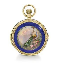 A YELLOW GOLD, ENAMEL AND PEARL-SET HUNTING CASED MINUTE REPEATING KEYLESS CHRONOGRAPH WATCH MADE FOR THE CHINESE MARKET, ENAMEL SCENE ATTRIBUTED TO LOUIS ROSSELET NO 50228 CIRCA 1890 Estimate  28,118-39,365 USD LOT SOLD. 56,236 USD. 14/05/14