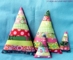Cute Scrappy Christmas Trees
