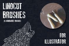 Hand-made linocut brushes by Guerillacraft on @creativemarket