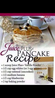 New recipes using Juice Plus complete.