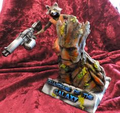 Guardians of the Galaxy, Rocket & Groot Bust, printed, coloured and finished. Guardians Of The Galaxy, 3d Printing, It Is Finished, Printed, Color, Sculpture, Impression 3d, Colour, Colors