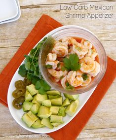 Low Carb Mexican Shrimp Appetizer - a delicious way to start a meal! Low Carb Mexican Shrimp Appetizer - a delicious way to start a meal! Shrimp Appetizers, Low Carb Appetizers, Appetizer Recipes, Keto Foods, Keto Snacks, Ketogenic Recipes, Ketogenic Diet, Sugar Free Recipes, Low Carb Recipes