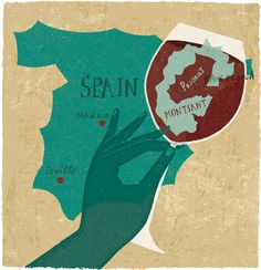 Priorat Wine region in Spain.