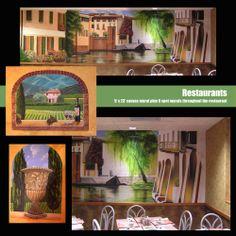 Created interior murals for the Burnham, PA. OIP Original Italian Pizza