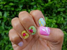 Flowers drawn by hand & used a white rub on too