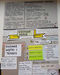 Polish Language, School Hacks, Study Tips, Bullet Journal, Notes, Teacher, Education, Homeschooling, Diy