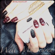 Smokin' hot!! COLORS by #Gelish: #DrawnTogether in #Magneto magnetic gel polish #wellmanicured #nails #nailart