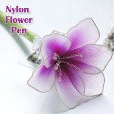 E-Book: DIY nylon stocking flower pen.