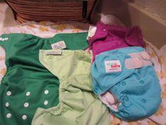 4 Cloth diaper lot- Bum Genius, Buttons, Ones & Twos #bumGenius