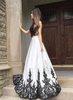 Petite+Black+And+White+Lace+Long+Prom+Dress,+Two+Pieces+Evening+Dress+A-Line+Prom+Dresses,Graduation+Dress+H3585 This+dress+could+be+custom+made,+there+are+no+extra+cost+to+do+custom+size+and+color. Description+ 1,+Processing+time:+20+business+days+ Shipping+Time:+7-10+business+days Ma...