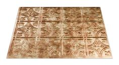 "Fasade Traditional 1 in Bermuda Bronze Kitchen Backsplash Panels are a perfect match for your kitchen backsplash ideas. The faux-tin backsplash features simple, DIY installation. Each 18"" x 24"" panel is 3 square feet."