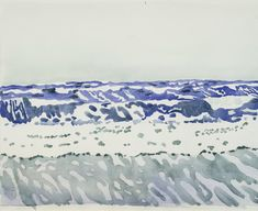 The Ocean (Study For The Crystal Lithium), Fairfield Porter, about 1970. Offered by Hirschl & Adler.